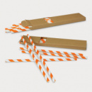 Paper Drinking Straws+Orange