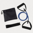 Yoga Stretch Band In Carry Pouch+Blue