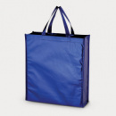 Metallic Non Woven Shopper Blue