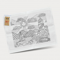 Cotton Colouring Tea Towel image
