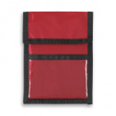 Nylon Wallet Badge and ID Holder+Red
