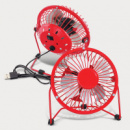 Nexion Desk Fan+Red