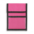Nylon Wallet Badge and ID Holder+Pink