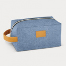 Heathered Toiletry Bag+Blue
