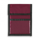 Nylon Wallet Badge and ID Holder+Burgundy