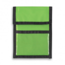 Nylon Wallet Badge and ID Holder+LimeGreen