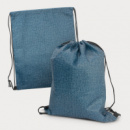 Tampa Heather Drawstring Backpack+Blue