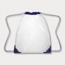 Clear Drawstring Backpack Navy