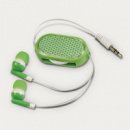 Retractable Reflective Earbuds Green