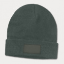 Everest Beanie with Patch+Dark Grey