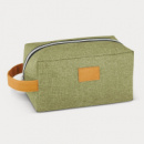 Heathered Toiletry Bag+Green