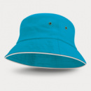 Bondi Premium Bucket Hat White Sandwich Trim+Light Blue
