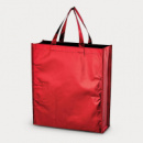 Metallic Non Woven Shopper Red