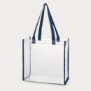 Clear Tote Bag Navy Blue
