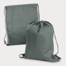Tampa Heather Drawstring Backpack+Grey