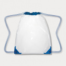 Clear Drawstring Backpack Royal Blue