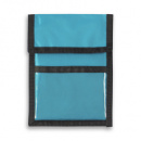Nylon Wallet Badge and ID Holder+Turquoise