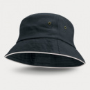Bondi Premium Bucket Hat White Sandwich Trim+Navy