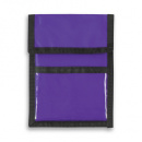 Nylon Wallet Badge and ID Holder+Purple