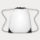 Clear Drawstring Backpack Black