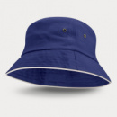 Bondi Premium Bucket Hat White Sandwich Trim+Royal Blue