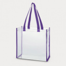 Clear Tote Bag Purple