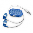 Retractable Reflective Earbuds Blue