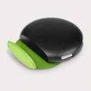 4 Port USB Phone Stand Green