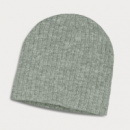 Nebraska Heather Cable Knit Beanie+Light Grey