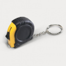 Rubber Tape Measure Key Ring Yellow