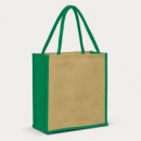 Lanza Jute Tote Bag+Green