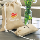 Jute Gift Bags+in use