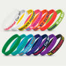 Silicone Wrist Band Embossed+colours
