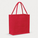 Monza Jute Tote Bag Colour Match+Red