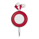 Retro Retractable Ear Buds+Red