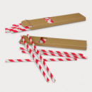Paper Drinking Straws+Red
