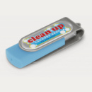 Helix Flash Drive+Silver Light Blue+Resin Dome