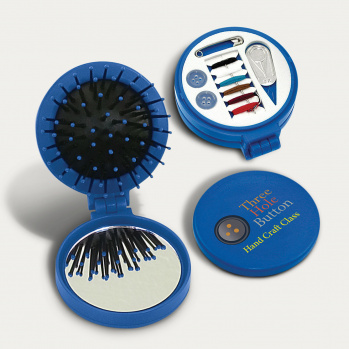 Folding Brush and Sewing Kit