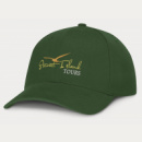 Sierra 6 Panel Heavy Cotton Cap+Dark Green