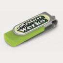 Helix Flash Drive+Silver Bright Green+Resin Dome