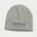 Nebraska Cable Knit Beanie+Grey