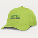 Sierra 6 Panel Heavy Cotton Cap+Bright Green