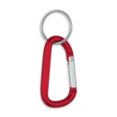 8mm Carabiner With Split Ring+Red