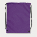 Drawstring Back Pack+Purple
