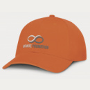 Sierra 6 Panel Heavy Cotton Cap+Orange