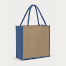 Lanza Jute Tote Bag+Blue