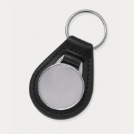 Baron Round Leather Key Ring image