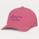 Sierra 6 Panel Heavy Cotton Cap+Pink