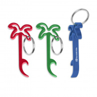 Palm Tree Bottle Opener Key Ring image