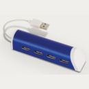 4 Port Aluminium Phone Stand blue